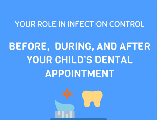 YOUR ROLE IN INFECTION CONTROL:  Before, during and after your child's dental appointment!